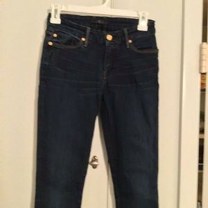 7 for all mankind stretch skinny misrise jeans 24